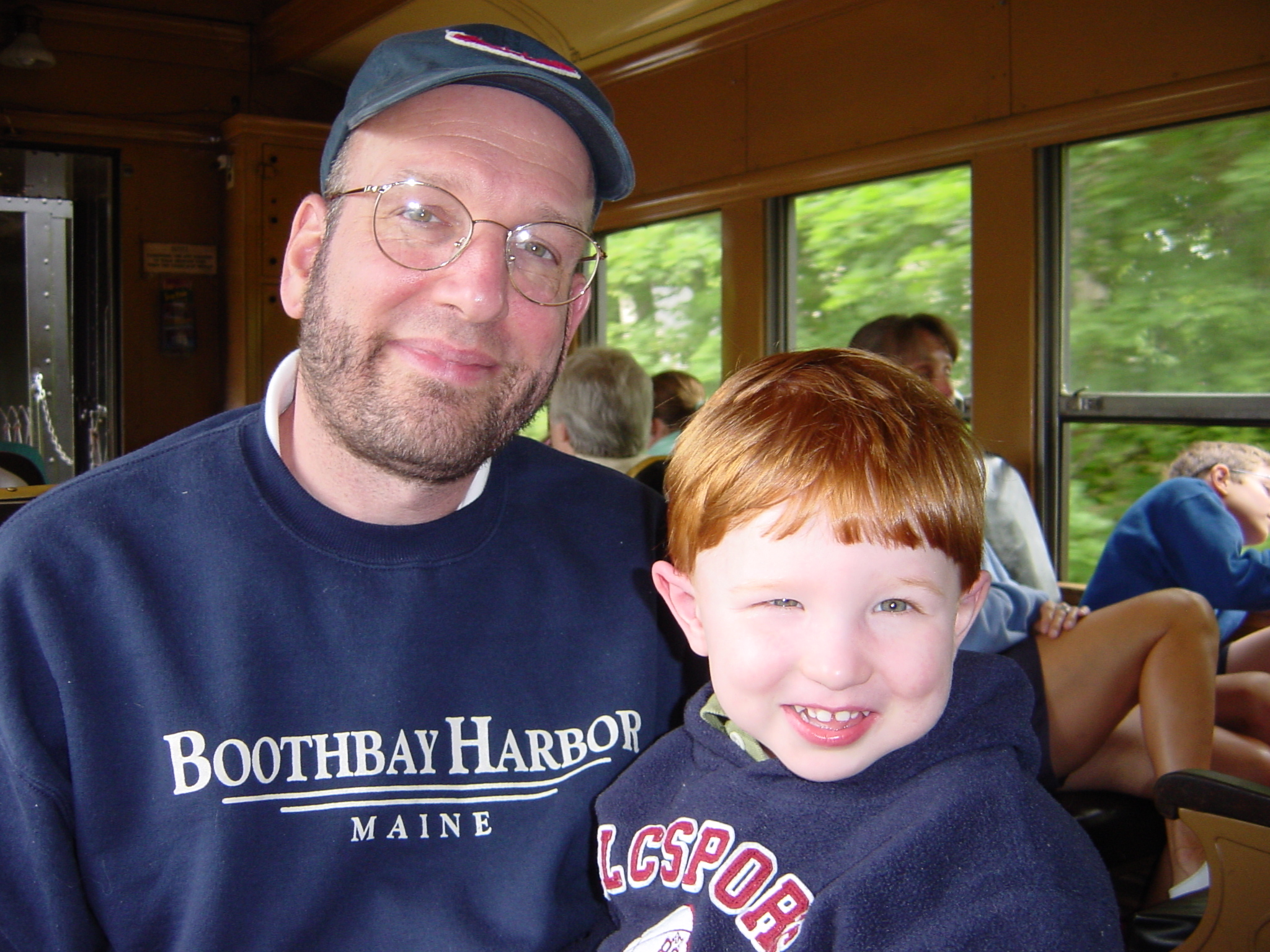 Riding the Essex CT Steam Train With My son